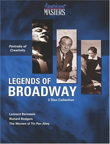 American Masters: Legends Of Broadway: Leonard Bernstein: Reaching For The Note / Richard Rodgers: ... / Yours For A Song: ... DVD Image