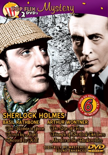 Sherlock Holmes: 6 Movie Sherlock Holmes (2-Disc): The Woman In Green / Terror By Night / Dressed To Kill / Sign Of Four / ... DVD Image