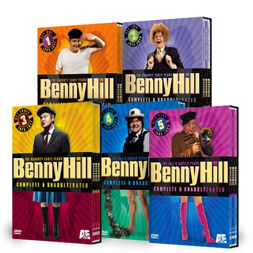 Benny Hill, Complete & Unadulterated, Sets 1 - 5 DVD Image