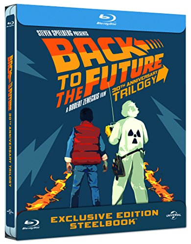 BACK TO THE FUTURE 30th Anniversary Complete Trilogy Steelbook (4-disc Blu-ray) [Italian Limited Edition Steelbook with Bonus Disc; Region-Free Full English] DVD Image
