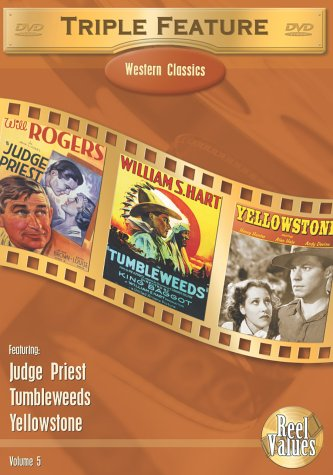 Western Classics Triple Feature, Vol. 5 (Judge Priest / Tumbleweeds / Yellowstone) DVD Image