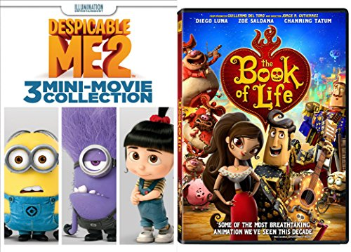 Despicable Me 2: 3 Mini-Movie Collection with Minions & Book of Life DVD Animated Set DVD Image
