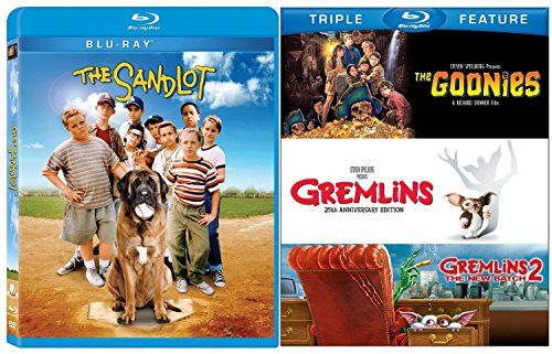 The Goonies The SANDLOT Gremlins Blu-ray Collection | Gremlins 2 The New Batch Family Fun 4 Movie Set DVD Image