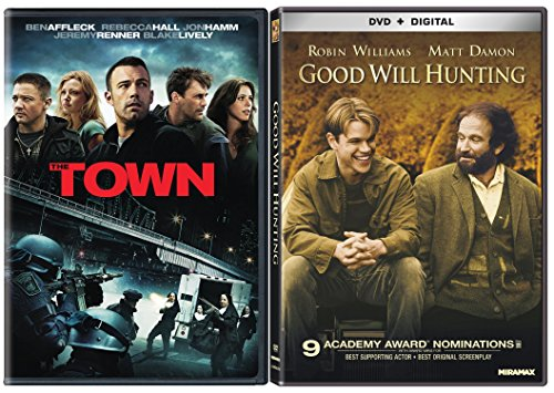 Good Will Hunting & The Town [DVD] 2 Pack Matt Damon & Ben Affleck Movie Set DVD Image