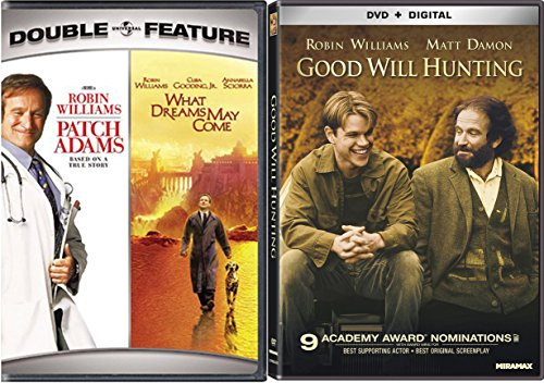 Good Will Hunting & Robin Williams Set [DVD] 2 Pack Patch Adams & What Dreams May Come Movie Set DVD Image