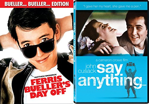Ferris Bueller's Day Off + Say Anything... Fun Comedy 80's Teen movie Set DVD Image
