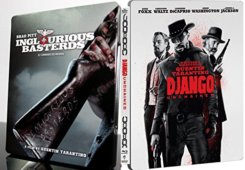 Django Unchained & Inglorious Basterds Limited Edition Steelbook [Blu-ray + DVD] Quentin Tarantino Set DVD Image