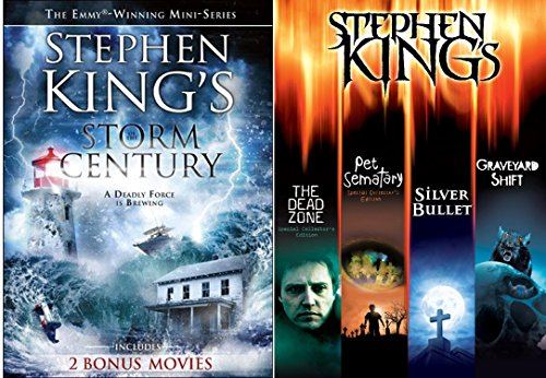 Stephen King Collection + The Dead Zone, Pet Cemetery, Graveyard Shift, Silver Bullet, The Shadows, Movie Feature Storm of the Century, The Shadows Master of Horror DVD Image