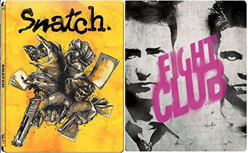 Snatch & Fightclub Steelbook Exclusive Limited Edition [Blu-ray] metal Set DVD Image