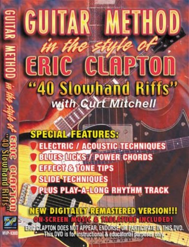 Guitar Method: In The Style Of Eric Clapton: 40 Slowhand Riffs DVD Image