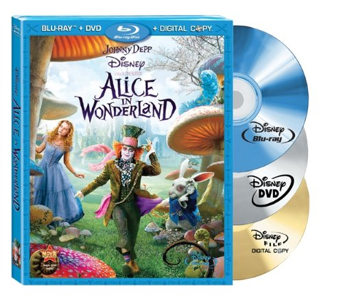 Alice in Wonderland (Three-Disc Blu-ray/DVD Combo + Digital Copy) DVD Image