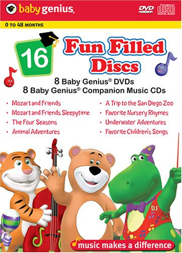 Baby Genius (DVD/CD Combo/ Box Set): Mozart And Friends / Mozart And Friends Sleepytime / Four Seasons / Animal Adventures / ... DVD Image