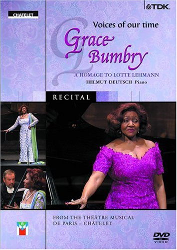 Voices Of Our Time: Grace Bumbry: An Homage To Lotte Lehmann DVD Image