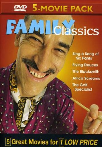 Family Classics Multipack, Vol. 10: Sing A Song Of Six Pants / Flying Deuces / The Blacksmith / Africa Screams / Golf Specialist DVD Image