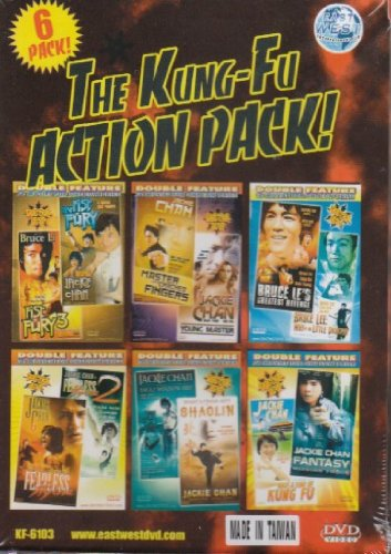 Kung-Fu Action Pack 6 Dual-DVDs [12 Movies] DVD Image