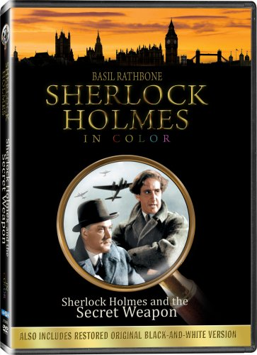 Sherlock Holmes and the Secret Weapon (Colorized / Black & White) DVD Image