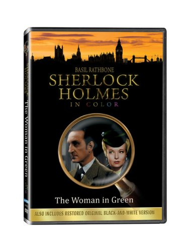 Sherlock Holmes in The Woman in Green - In COLOR! Also Includes the Original Black-and-White Version which has been Beautifully Restored and Enhanced! DVD Image