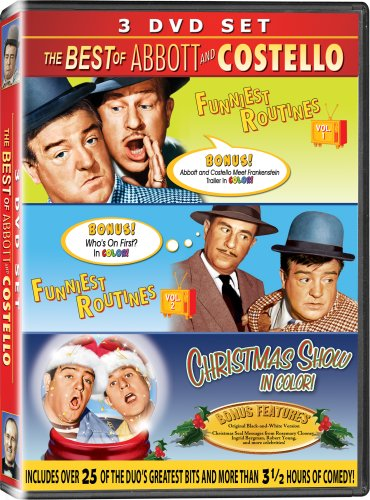 The Best of Abbott & Costello 3PK - IN COLOR! - Funniest Routines Vol 1, Funniest Routines Vol 2, & The Christmas Show DVD Image