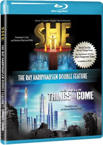 Ray Harryhausen Double Feature [Blu-ray] with She and Things to Come w/ BONUS DVD The Most Dangerous Game DVD Image