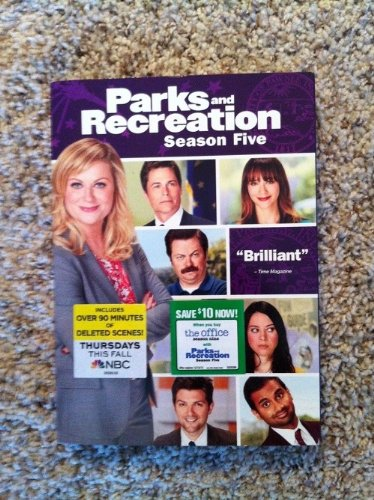 PARKS and RECREATION Season 5 3-Disc DVD Set DVD Image