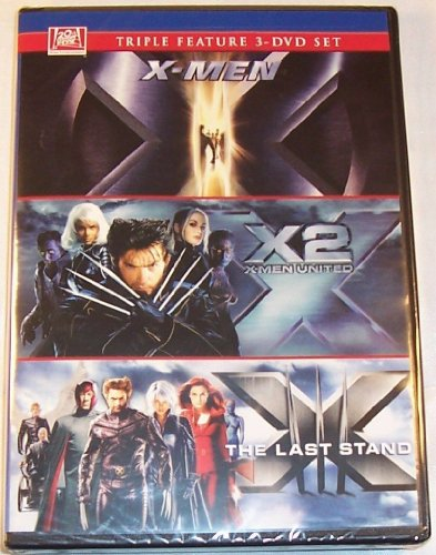 X-MEN Triple Feature 3-DVD Set (Includes: X-Men + X2 X-Men United + X-men The Last Stand) ALL 3 GREAT X-men Movies Together - Hugh Jackman as Wolverine DVD Image