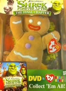 SHREK FOREVER AFTER The Final Chapter DVD & TY Ginger Bread Man Beanie Babie DVD Image