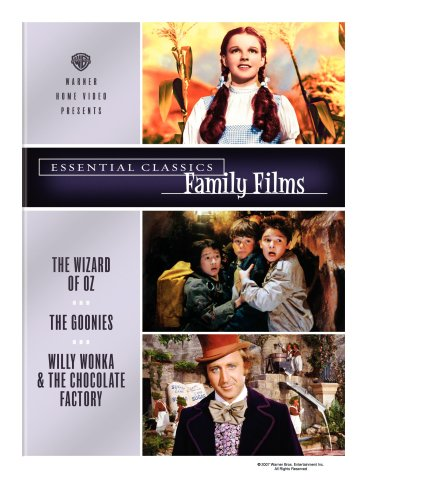 Essential Classics - Family Films (The Wizard of Oz / The Goonies / Willy Wonka and the Chocolate Factory) DVD Image