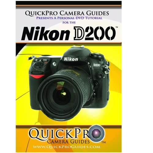 Nikon D200 Instructional DVD by QuickPro Camera Guides DVD Image