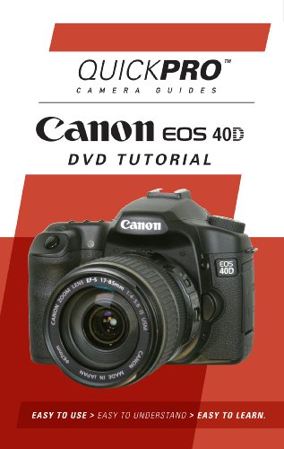 Canon 40D Instructional DVD by QuickPro Camera Guides DVD Image