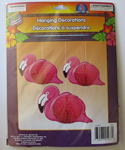 Flamingo Hanging Tissue Paper Party Decorations DVD Image