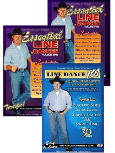 Beginner Line Dance 3-pack (Line Dance 101 - Quick Start Guide and Essentials 1&2) (Shawn Trautman's Dance Collection) DVD Image