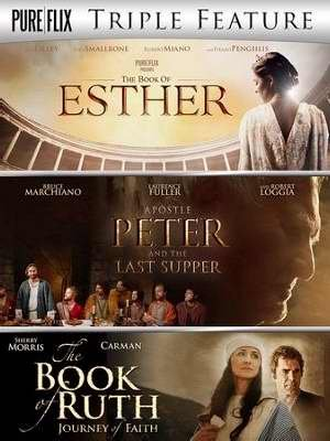 DVD - Triple Feature: Esther/Apostle Peter & Last Supper/Book Of Ruth (3 DVD) DVD Image