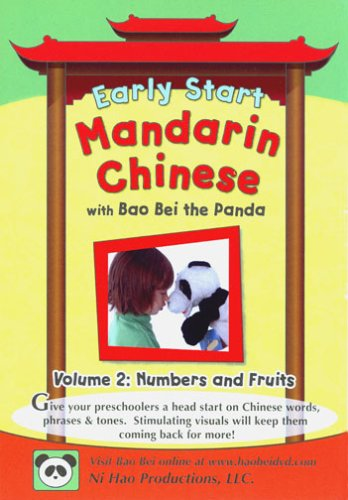 Early Start Mandarin Chinese with Bao Bei the Panda, Volume 2: Numbers and Fruits DVD Image