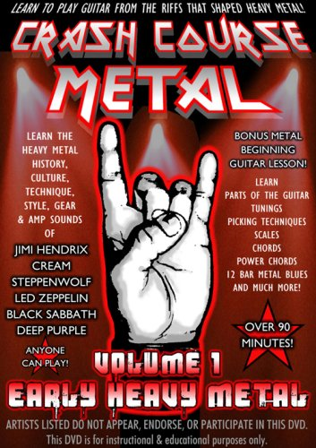 Crash Course Metal Volume 1 Early Heavy Metal DVD Image