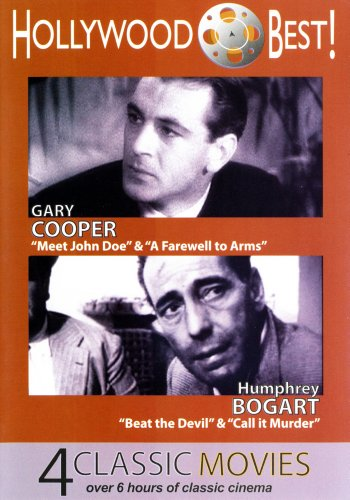 Hollywood Best! Gary Cooper & Humphrey Bogart - 4 Classic Movies Includes: Meet John Doe, A Farewell to Arms, Beat the Devil and Call It Murder DVD Image
