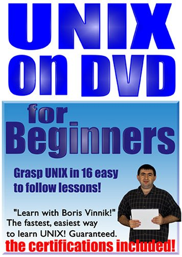 UNIX For Beginners. Grasp UNIX In 16 Easy To Follow Lessons! DVD Image