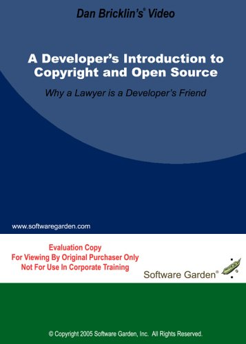 Introduction To Copyright And Open Source (Evaluation Copy) DVD Image