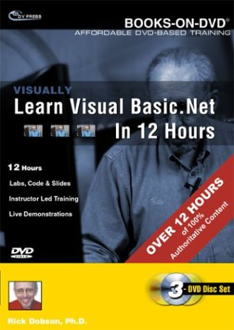 Visually Learn Visual Basic .NET In 12 Hours DVD Image