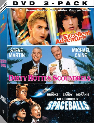 80's Comedies 3-Pack: Spaceballs / Dirty Rotten Scoundrels / Bill & Ted's Excellent Adventure DVD Image