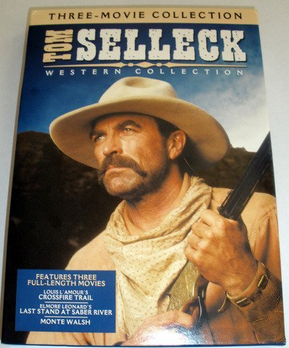 Tom Selleck Western Collection (Monte Walsh / Last Stand at Saber River / Crossfire Trail) DVD Image