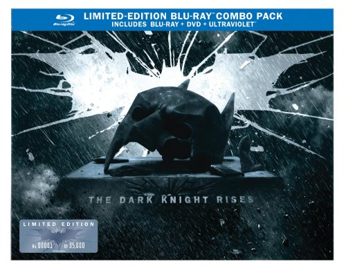 The Dark Knight Rises: Limited Edition Bat Cowl (Blu-ray/DVD Combo+UltraViolet Digital Copy) DVD Image
