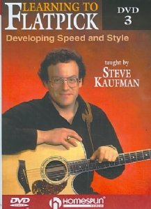 Learning To Flatpick (3-Disc): A Complete Course, From Bluegrass Basics To Advanced Techniques: By Steve Kaufman DVD Image
